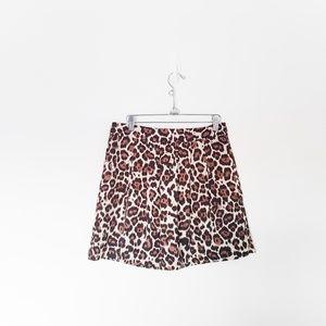 NWT Banana Republic Leopard Print Mini Skirt